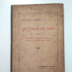 Libros antiguos: LECTURAS DE ORO – EJEMPLOS, FÁBULAS E HISTORIETAS MORALES PARA NIÑOS. Lote 156528058