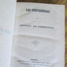 Libros antiguos: LAS CONFIDENCIAS - POR ALFONSO DE LAMARTINE - MADRID 1849. Lote 156563278