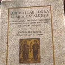 Libros antiguos - Art popular i de la llar a Catalunya 1930 Ex llibris - 156634250