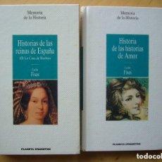 Libros antiguos: LOTE 2 LIBROS CARLOS FISAS; COLECCIÓN MEMORIAS DE LA HISTORIA. Lote 156687158