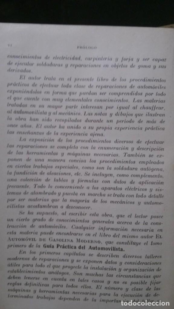 Libros antiguos: TRATADO PRÁCTICO DE REPARACIÓN DE AUTOMÓVILES-GUIA PRÁCTICA DEL AUTOMOVILISTA-VICTOR W. PAGÉ-1925 - Foto 5 - 156753710