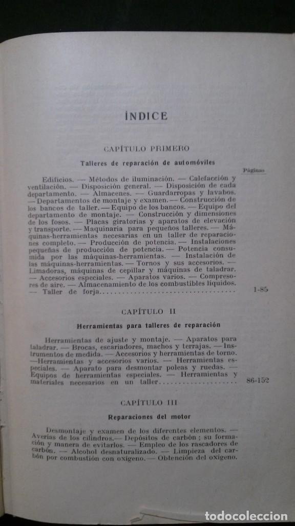 Libros antiguos: TRATADO PRÁCTICO DE REPARACIÓN DE AUTOMÓVILES-GUIA PRÁCTICA DEL AUTOMOVILISTA-VICTOR W. PAGÉ-1925 - Foto 7 - 156753710