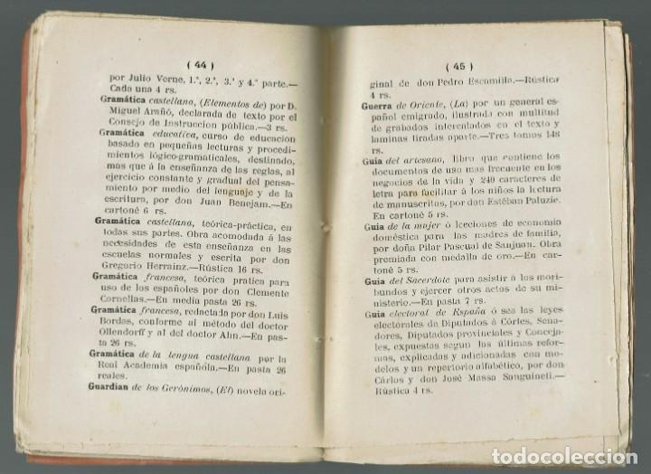 Libros antiguos: CATÁLOGO DE LAS OBRAS, OPÚSCULOS Y DEMÁS PUBLICACIONES DE LA LIBRERÍA DE FÁBREGES. 1884(MENORCA.1.2) - Foto 2 - 159081953