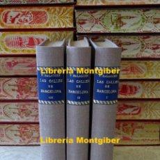 Libros antiguos: LAS CALLES DE BARCELONA EN 1865 . 3 TOMOS . AUTOR : BALAGUER, VICTOR . Lote 156789186