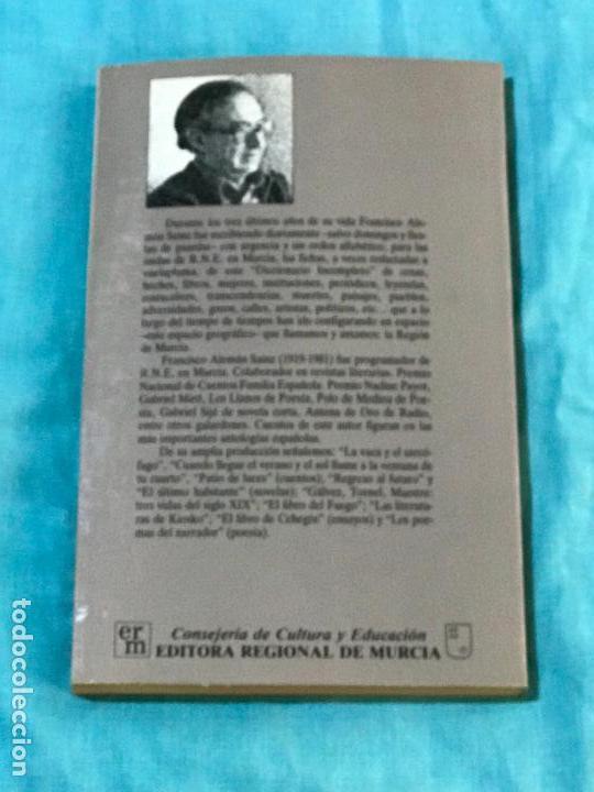 Libros antiguos: Diccionario incompleto de la región de Murcia - Alemán Sainz, Francisco 5 MURCIA - HISTORIA DE MURCI - Foto 2 - 156827866