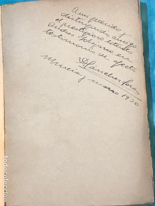 Libros antiguos: MURCIA POESIA- EL AROMA DEL ARCA- P. JARA CARRILLO 1.929 DEDICADO A ANDRES SOBEJANO - Foto 2 - 156828090