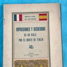 Libros antiguos: IMPRESIONES Y RECUERDOS DE UN VIAJE POR EL NORTE DE ITALIA. - DÍEZ DE REVENGA, EMILIO.. Lote 156828942