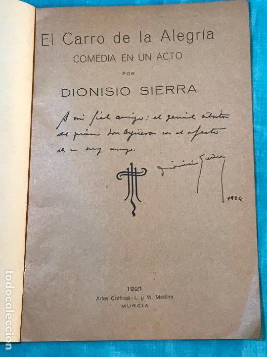 Libros antiguos: El Carro de la Alegría : comedia en un acto (1921) - Sierra, Dionisio, 1887-1930 - Foto 2 - 156849618