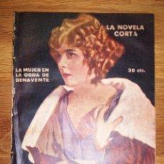 Libros antiguos: LA MUJER EN LA OBRA DE BENAVENTE (LA NOVELA CORTA ; 303). Lote 156899034
