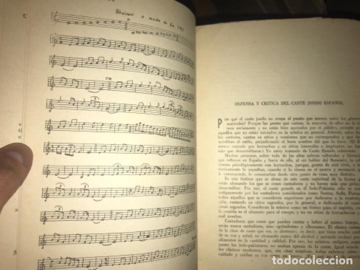 Libros antiguos: ANTIGUO LIBRO CANTE JONDO SU ORIGEN Y EVOLUCIÓN AZIZ BALOUCH - Foto 5 - 156917862