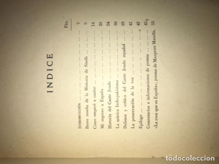 Libros antiguos: ANTIGUO LIBRO CANTE JONDO SU ORIGEN Y EVOLUCIÓN AZIZ BALOUCH - Foto 6 - 156917862