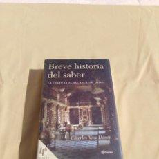 Libros antiguos: BREVE HISTORIA DEL SABER. Lote 156995358