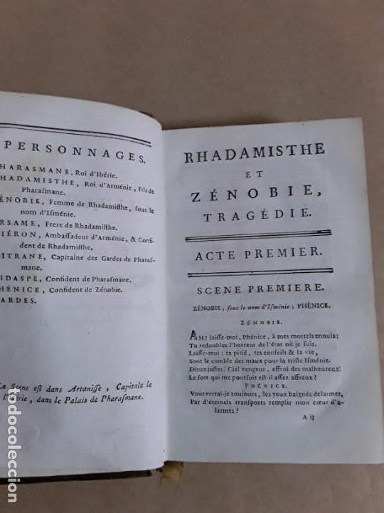 Libros antiguos: Libro de 1711,ouvres de crebillon,tomo second rhadamisthe et zenobie tragedie. - Foto 6 - 157089658