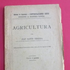 Libros antiguos: AGRICULTURA. JUAN DANTÍN CERECEDA. MADRID ED. REUS, 1925. INTONSO. 84 PÁGINAS. 23 X 15,5 CM.. Lote 157214558