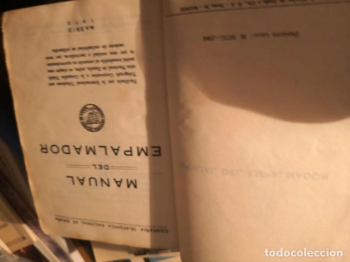 Libros antiguos: MANUAL DEL EMPALMADOR. Compañía Telefónica Nacional de España (Madrid, 1970) - Foto 5 - 157265622