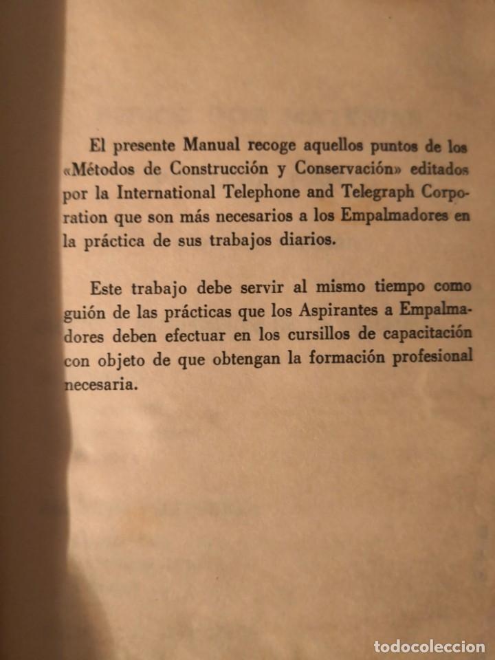 Libros antiguos: MANUAL DEL EMPALMADOR. Compañía Telefónica Nacional de España (Madrid, 1970) - Foto 6 - 157265622