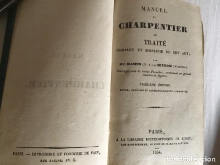 CARPINTERÍA.MANUEL DU CHARPENTIER, PARIS 1834 HANUS (Libros Antiguos, Raros y Curiosos - Ciencias, Manuales y Oficios - Otros)