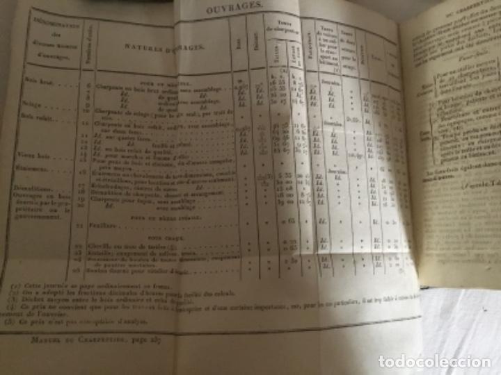 Libros antiguos: Carpintería.Manuel du charpentier, Paris 1834 Hanus - Foto 4 - 157328190