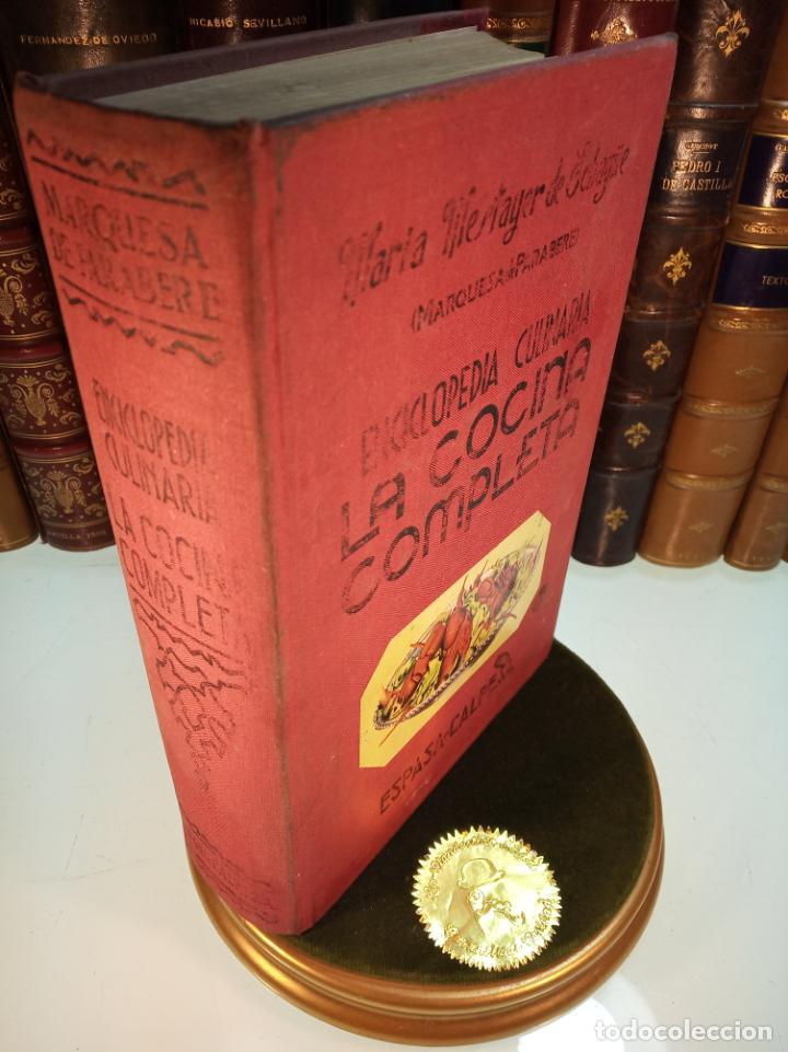 ENCICLOPEDIA CULINARIA. LA COCINA COMPLETA. ESPASA-CALPE. MARÍA MESTAYER DE ECHAGÜE. 1982 (Libros Antiguos, Raros y Curiosos - Cocina y Gastronomía)