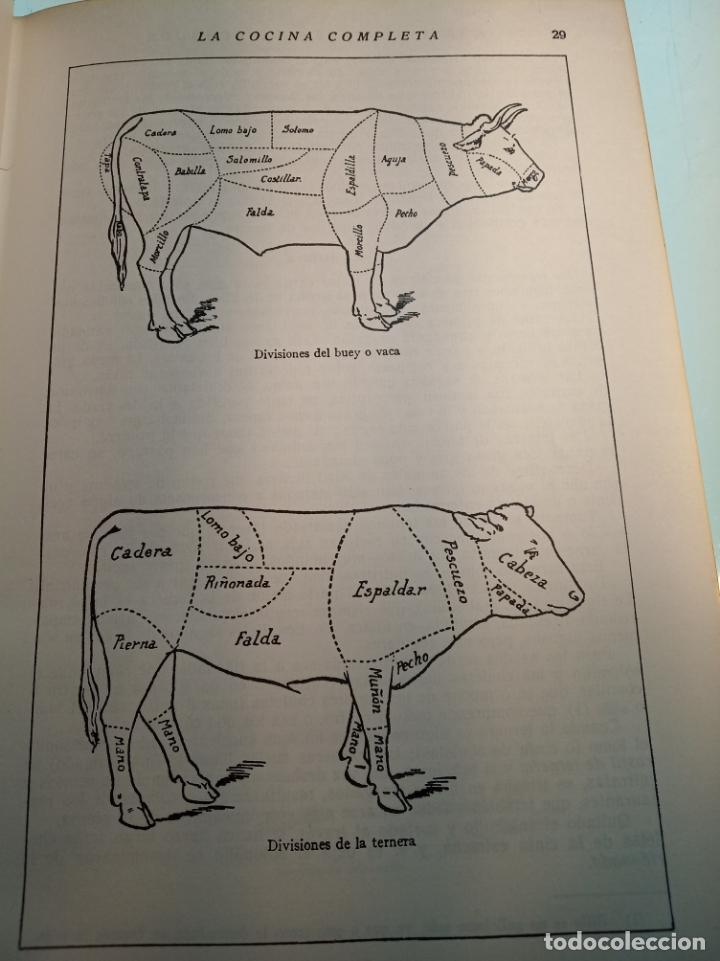 Libros antiguos: Enciclopedia culinaria. La Cocina completa. Espasa-Calpe. María Mestayer de Echagüe. 1982 - Foto 3 - 157364386