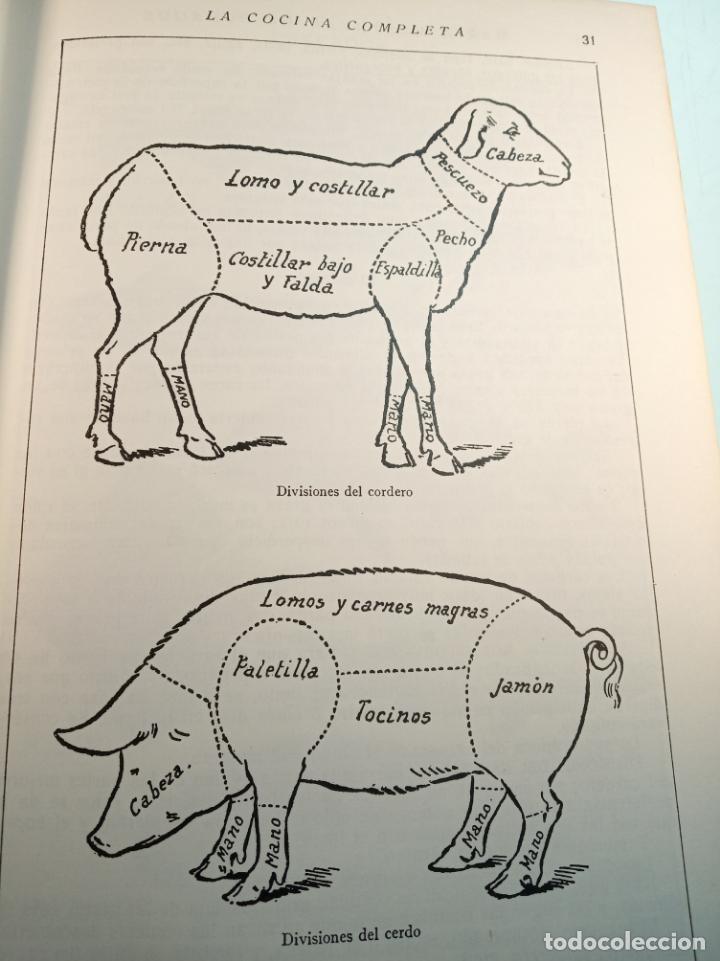 Libros antiguos: Enciclopedia culinaria. La Cocina completa. Espasa-Calpe. María Mestayer de Echagüe. 1982 - Foto 4 - 157364386