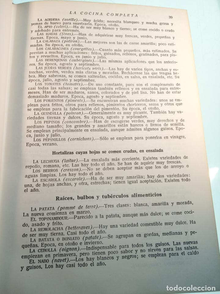 Libros antiguos: Enciclopedia culinaria. La Cocina completa. Espasa-Calpe. María Mestayer de Echagüe. 1982 - Foto 7 - 157364386
