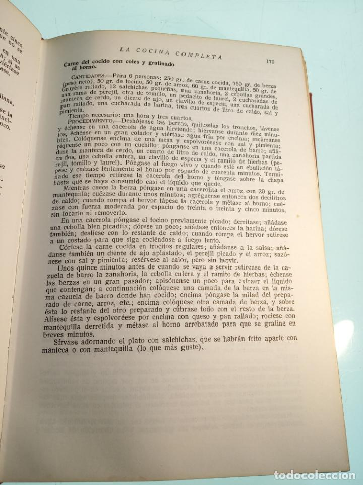 Libros antiguos: Enciclopedia culinaria. La Cocina completa. Espasa-Calpe. María Mestayer de Echagüe. 1982 - Foto 8 - 157364386