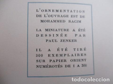 Libros antiguos: Le jardin des roses. - SAADI. 1935 - TIRADA DE 300 EJEMPLARES (EN FRANCES) - Foto 6 - 157759198