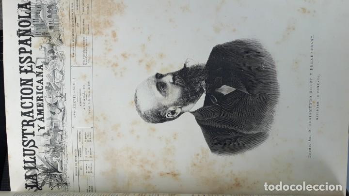 Libros antiguos: La Ilustración Española y Americana tomo I de enero a junio 1893 - Foto 2 - 157900378