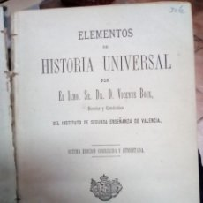 Libros antiguos: ELEMENTOS DE HISTORIA UNIVERSAL, VICENTE BOIX. VALENCIA 1880. Lote 158145802