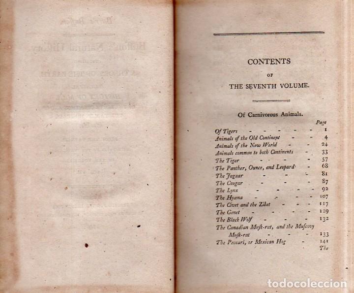 Libros antiguos: BUFFON´S NATURAL HIFTORY. BARR´S BUFFON.A THEORY OF THE EARTH A GENERAL HISTORY OF MAN.1797. VOL VII - Foto 5 - 158200998