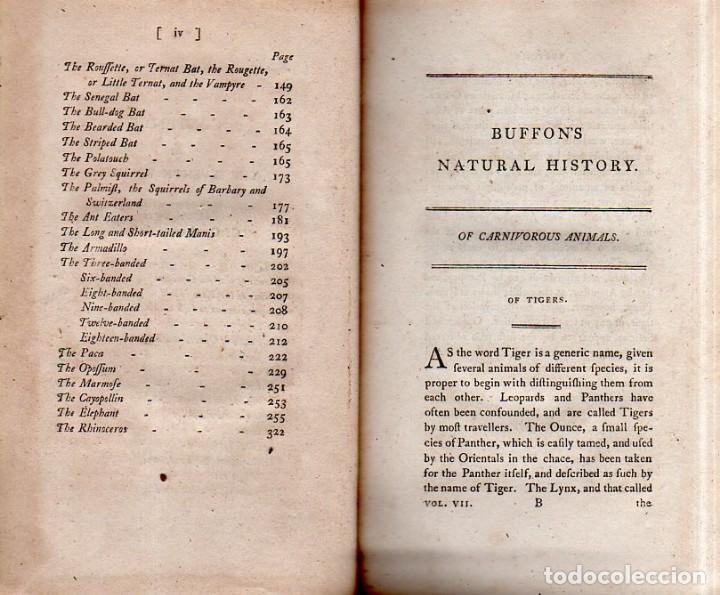 Libros antiguos: BUFFON´S NATURAL HIFTORY. BARR´S BUFFON.A THEORY OF THE EARTH A GENERAL HISTORY OF MAN.1797. VOL VII - Foto 6 - 158200998