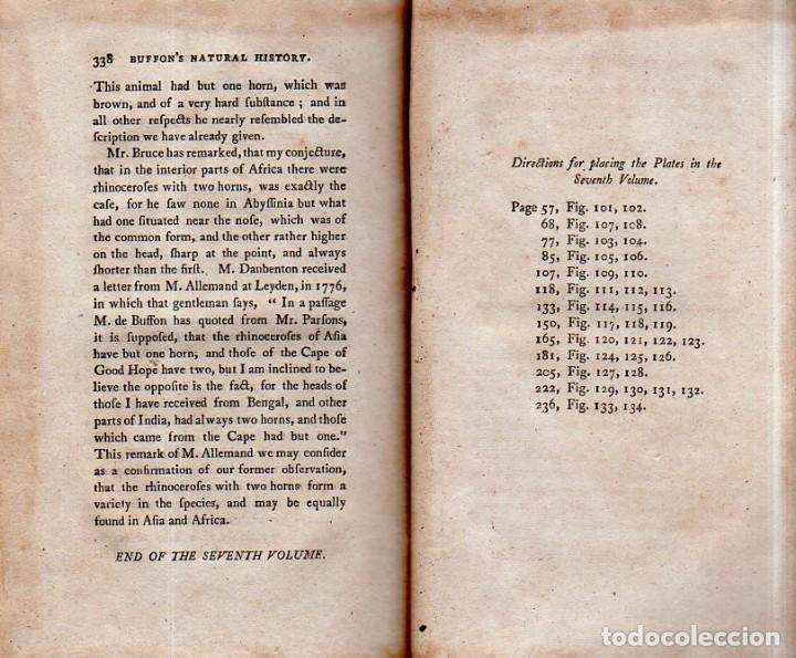 Libros antiguos: BUFFON´S NATURAL HIFTORY. BARR´S BUFFON.A THEORY OF THE EARTH A GENERAL HISTORY OF MAN.1797. VOL VII - Foto 20 - 158200998