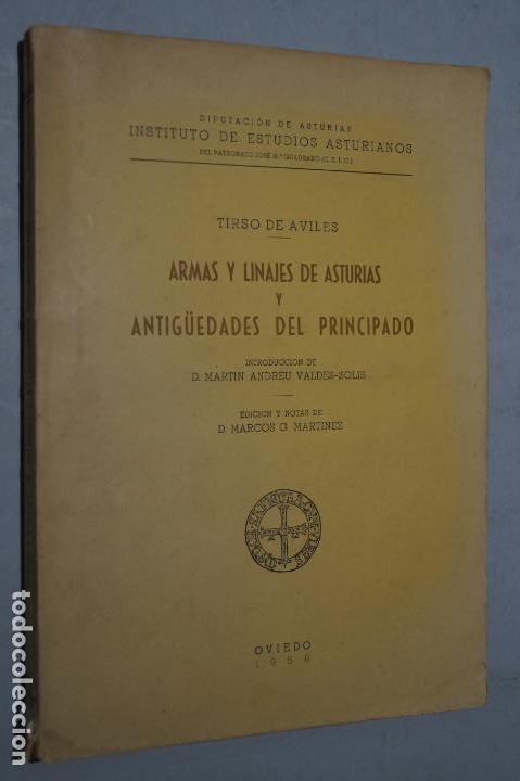 ARMAS Y LINAJES DE ASTURIAS Y ANTIGÜEDADES DEL PRINCIPADO. TIRSO DE AVILÉS (Libros Antiguos, Raros y Curiosos - Historia - Otros)