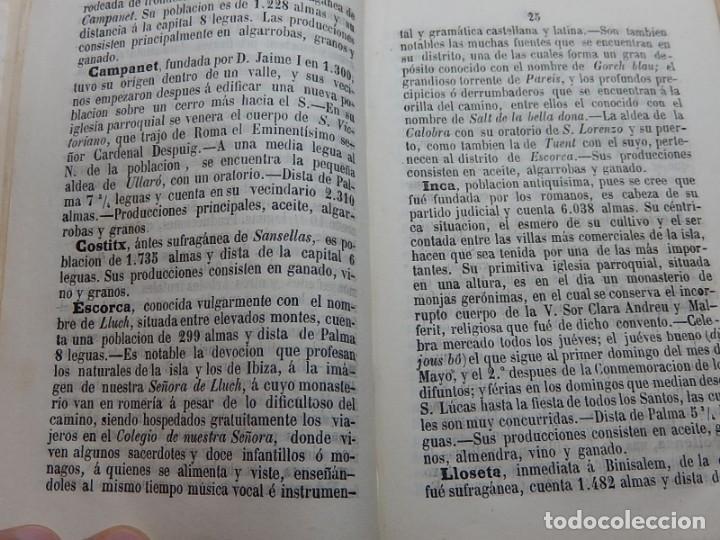 Libros antiguos: Compendio de Geografía e Historia de las Baleares.1866 - Foto 3 - 158241230