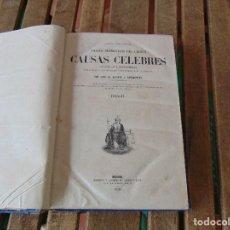 Libros antiguos: ANALES DRAMATICOS DEL CRIMEN CAUSAS CELEBRES ESPAÑOLAS Y EXTRANJERAS MADRID 1868 TOMO IV. Lote 158247566