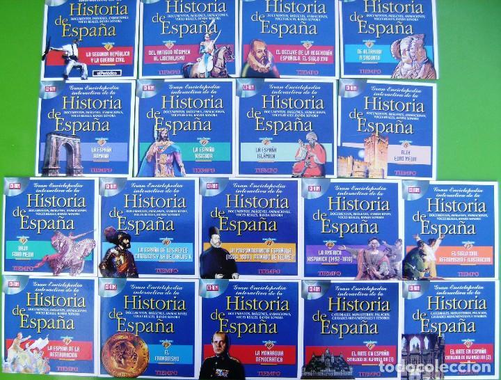COLECCION GRAN ENCICLOPEDIA INTERACTIVA DE LA HISTORIA DE ESPAÑA EN 18 CD ROM (Libros Antiguos, Raros y Curiosos - Historia - Otros)