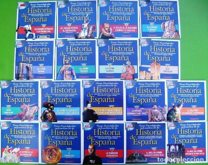 Libros antiguos: Coleccion Gran Enciclopedia interactiva de la Historia de España en 18 CD ROM - Foto 2 - 158309962