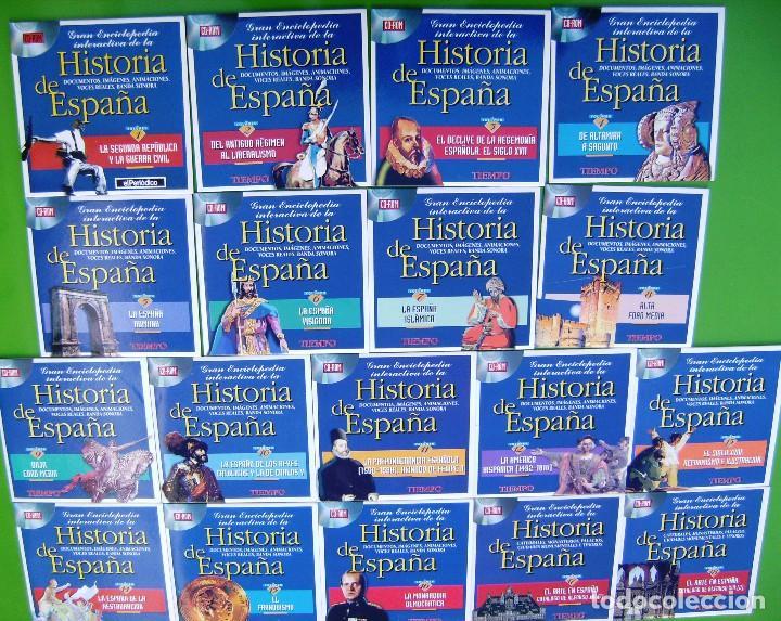 Libros antiguos: Coleccion Gran Enciclopedia interactiva de la Historia de España en 18 CD ROM - Foto 3 - 158309962