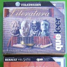 Libros antiguos: LOTE 3 COLECCIONES EN CD ROM - HISTORIA DE LA LITERATURA UNIVERSAL, Hª DE LA LITERATURA ESPAÑOLA Y G. Lote 158337298