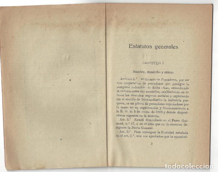 Libros antiguos: ESTATUTOS DE LA SOCIEDAD GREMIO DE PESCADORES. VILLANUEVA Y GELTRÚ- 1919 - Foto 3 - 158425262