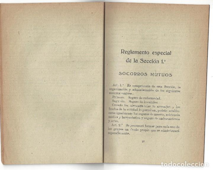 Libros antiguos: ESTATUTOS DE LA SOCIEDAD GREMIO DE PESCADORES. VILLANUEVA Y GELTRÚ- 1919 - Foto 4 - 158425262