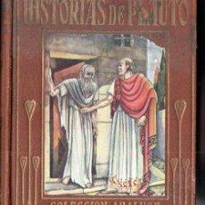 Libros antiguos: HISTORIAS DE PLAUTO (ARALUCE, 1937). Lote 158440562