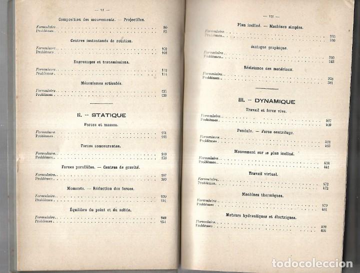 Libros antiguos: PROBLÈMES DE MÉCANIQUE PAR EDMOND GABRIEL. SOLUTIONNAIRE. TOME I ET TOME II. 1924 - Foto 6 - 134563662