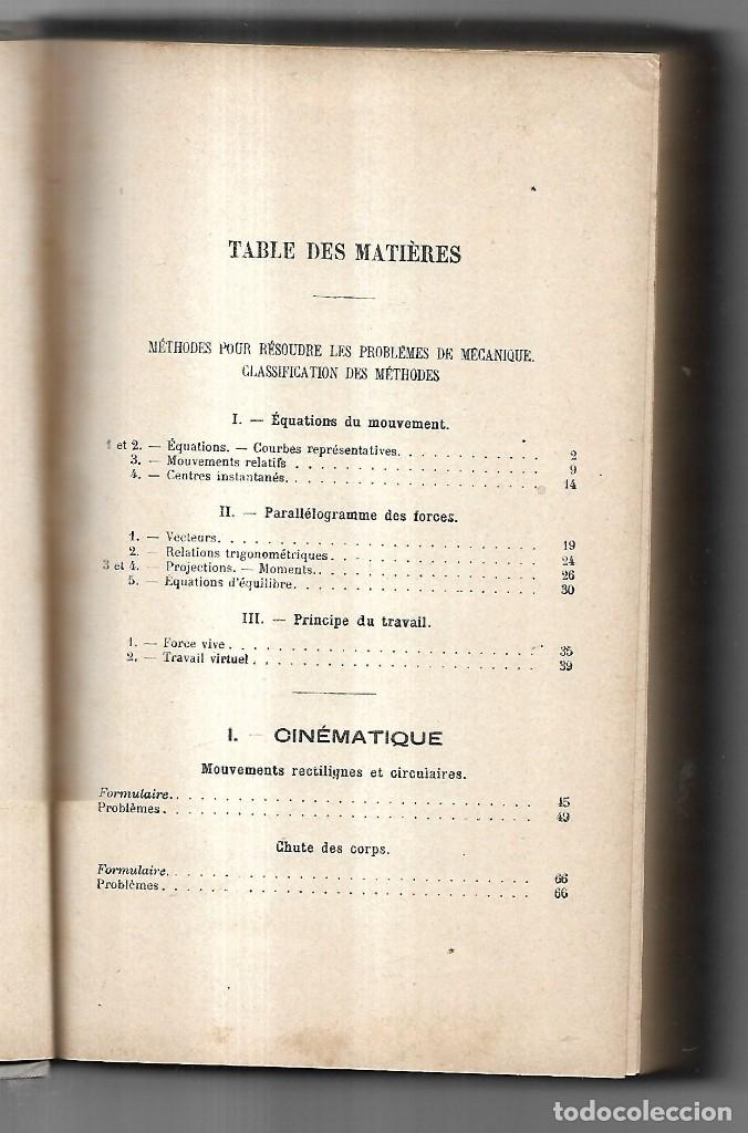 Libros antiguos: PROBLÈMES DE MÉCANIQUE PAR EDMOND GABRIEL. SOLUTIONNAIRE. TOME I ET TOME II. 1924 - Foto 5 - 134563662
