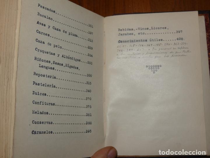 Libros antiguos: La cocina casera, recetas recopiladas del periodico Barcelonés ,El día Gráfico.Barcelona 1931 - Foto 5 - 158532526
