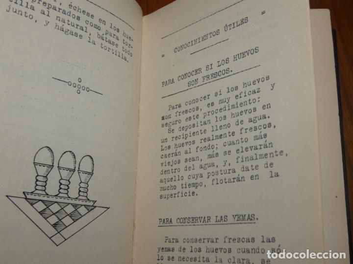 Libros antiguos: La cocina casera, recetas recopiladas del periodico Barcelonés ,El día Gráfico.Barcelona 1931 - Foto 6 - 158532526