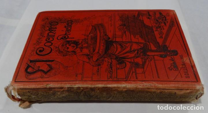 Libros antiguos: El cocinero practico 1892. Nuevo tratado de cocina. 380 Grabados. Saturnino Calleja - Foto 2 - 213693845