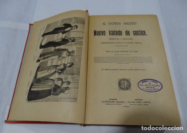 Libros antiguos: El cocinero practico 1892. Nuevo tratado de cocina. 380 Grabados. Saturnino Calleja - Foto 4 - 213693845