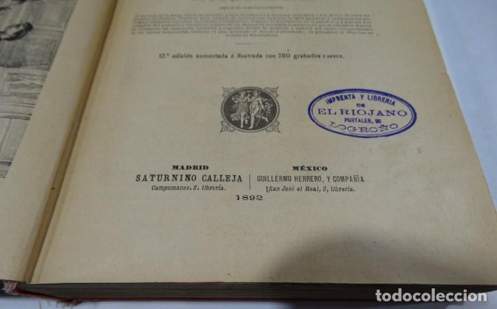 Libros antiguos: El cocinero practico 1892. Nuevo tratado de cocina. 380 Grabados. Saturnino Calleja - Foto 5 - 213693845